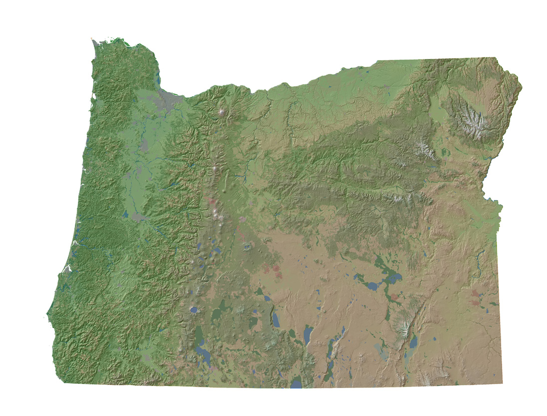 Elevation Map Oregon Oregon 10 Meter Elevation And